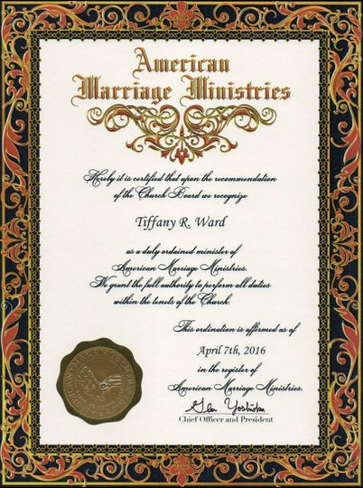 Officiant Certificate