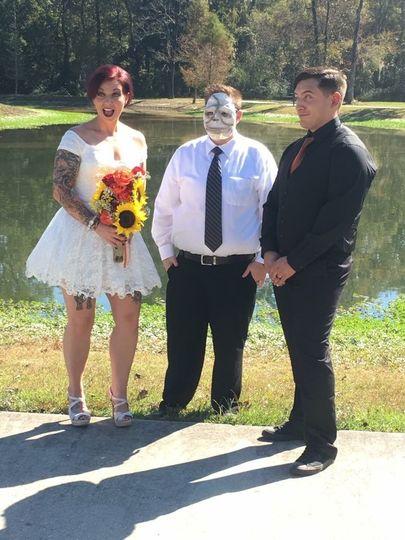 Christina and Chris's Halloween Wedding