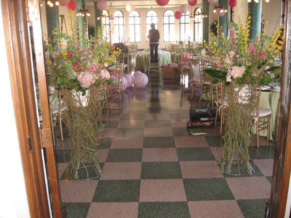 An overview of a wonderful brunch reception. Guests entered between two large and gracious...
