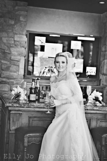 Bride by the drinks