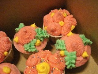 These mini-cupcakes were made as a sample for local businesses. Pretty flower designs are always a...