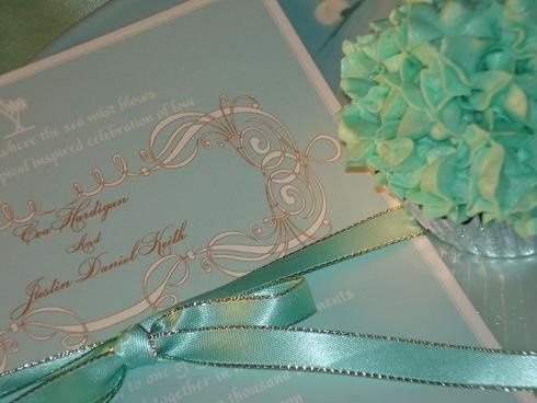 This is a vibrant invite that is so elegant and soft to the touch