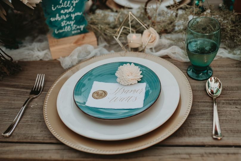 Handmade Paper Place Card