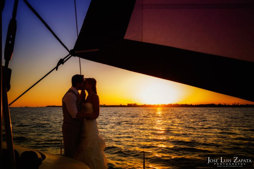catamaran belize wedding ambergris caye san pedro