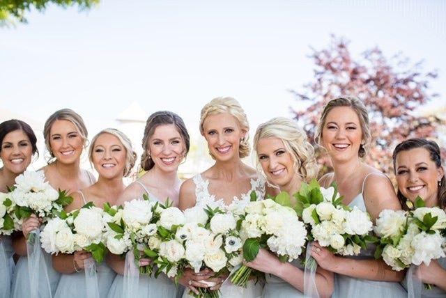 Bridal party airbrush makeup