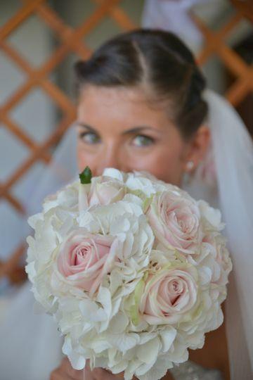 flowers, bouquet, romantic bouquet, roses and hydrangea