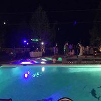 Wedding, pool mansion