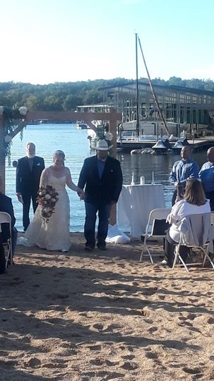 Beach ceremony