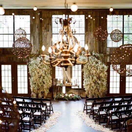 Wedding venue indoor wedding ceremony