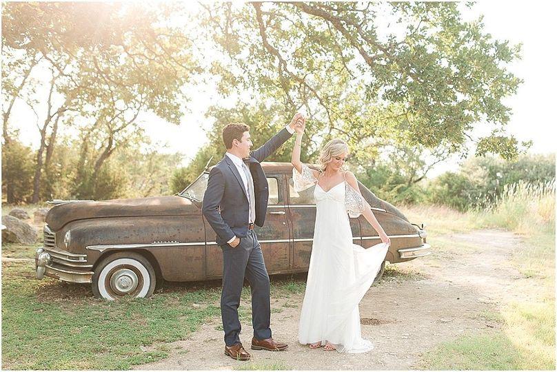 Wedding venue bride & groom.