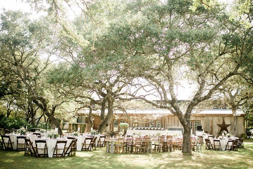 Outdoor reception on the lawn.
