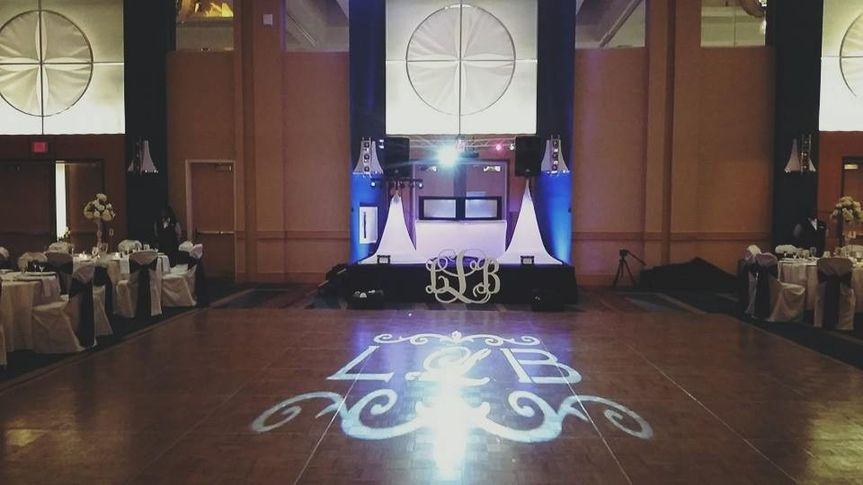 Dance floor monograms