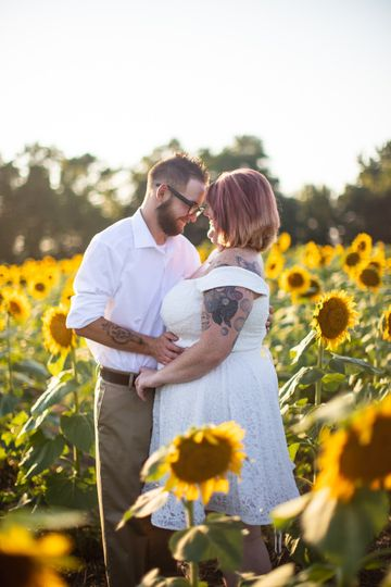 By the sunflowers