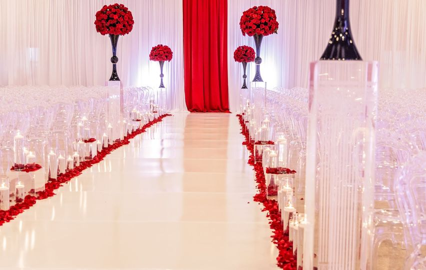 Aisle at wedding ceremony