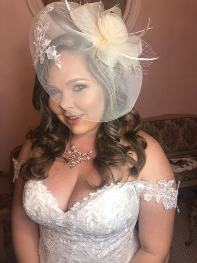 1940s themed bride