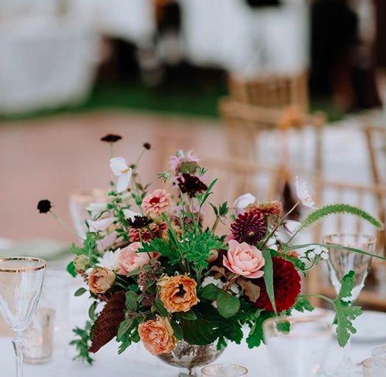 Center table flowers
