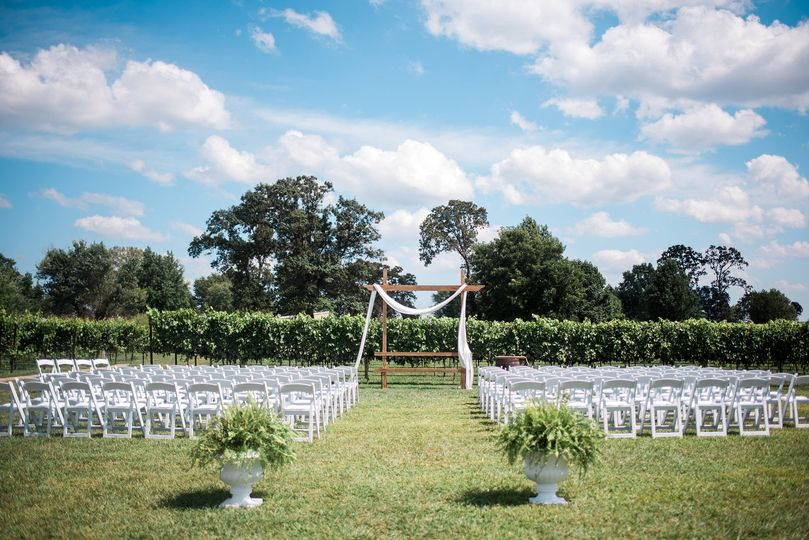 Ceremony location in the viney
