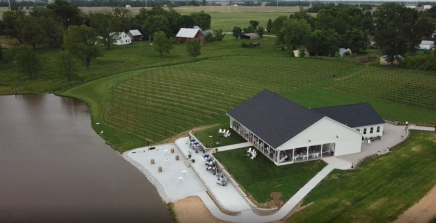 Drone view of The Pour Vineyar