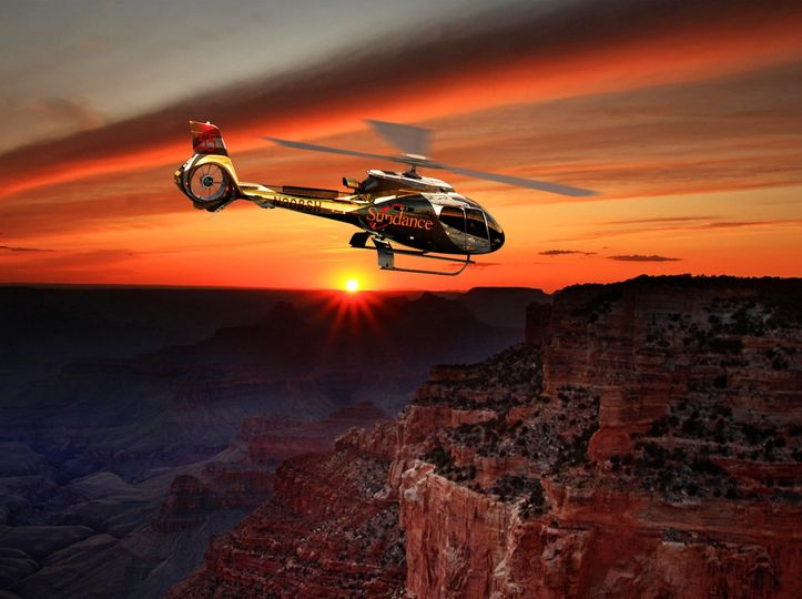 Helicopter- Grand Canyon sunse
