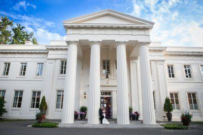 Big white mansions