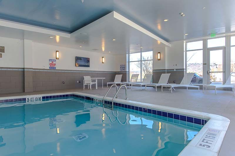 Year-round heated indoor pool