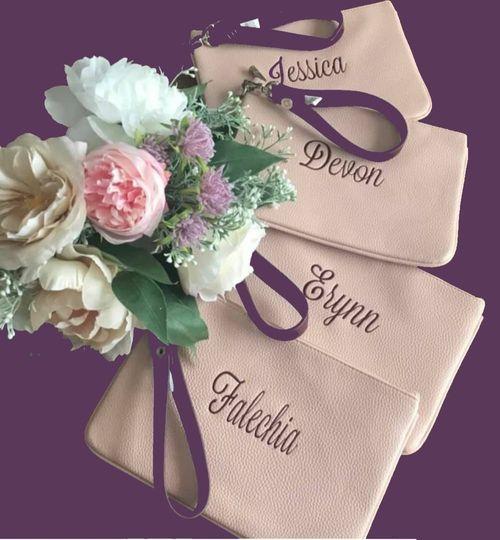 Wrist bags - lipstick/tissues