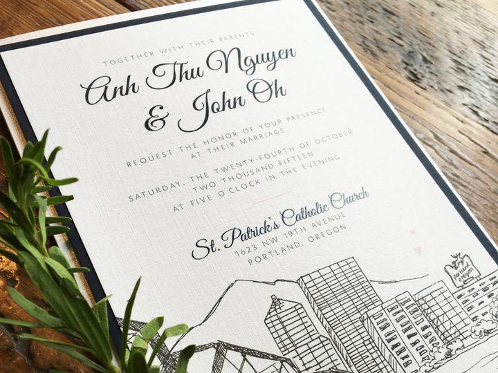 Tmx 1475170533508 Portland Invitation Portland wedding invitation