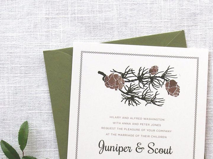 Tmx 1479419058367 3rd House Invites Portland wedding invitation