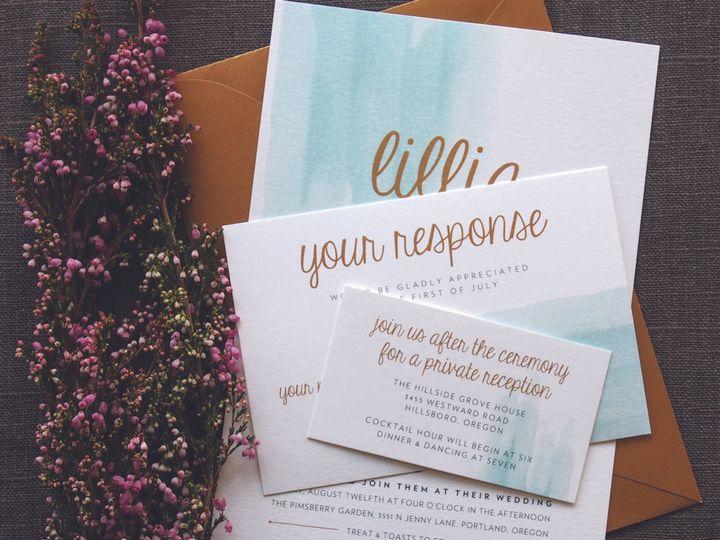 Tmx 1479419173451 3rd House Invites17 Portland wedding invitation