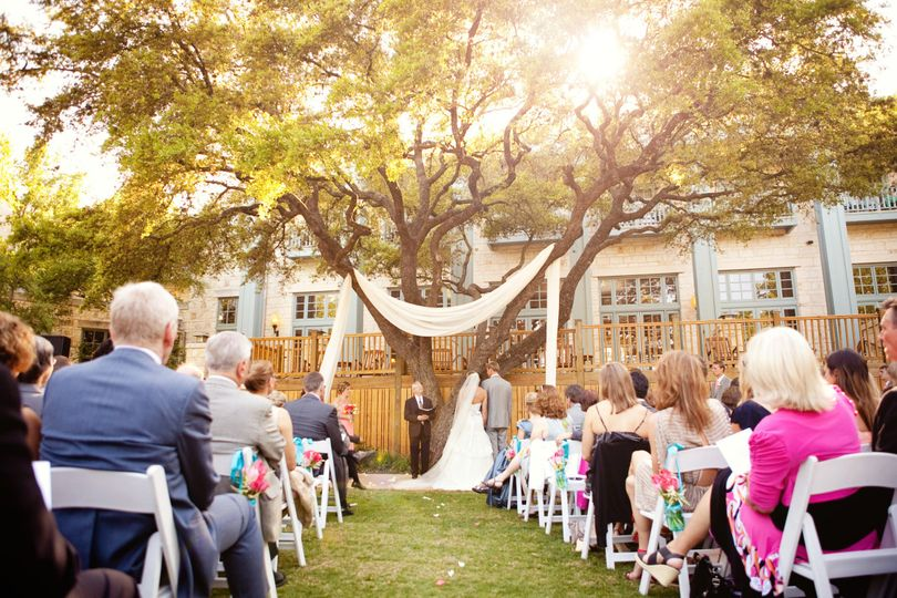 Elegant Outdoor Wedding Ceremony Site Near San Antonio: Hyatt Regency Hill Country Resort And Spa