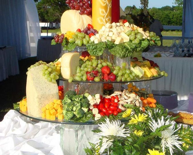Fruits and cheese station