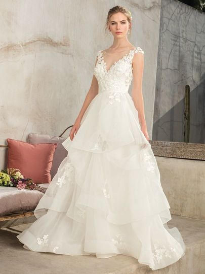 Classic layered wedding gown