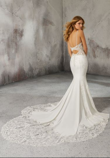 Mermaid tail wedding dress