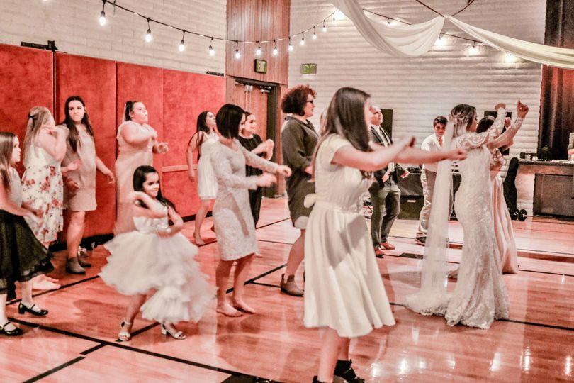 Wedding reception in Utah