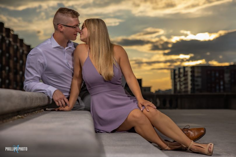 Engagement at sunset
