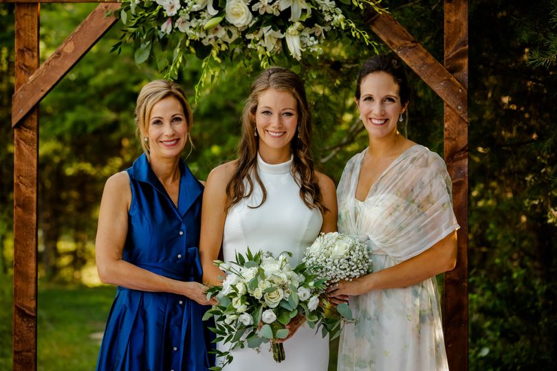 Mother, daughter, and bride