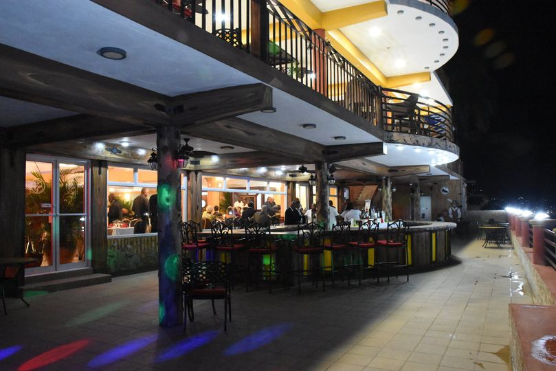 One of 4 terraces & bar