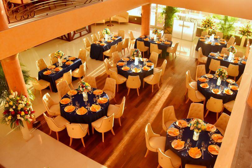 Dining area setup