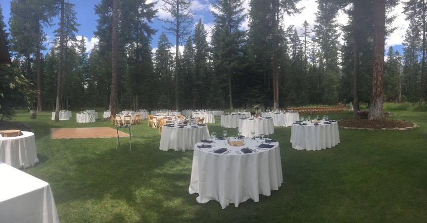 Outdoor reception venue