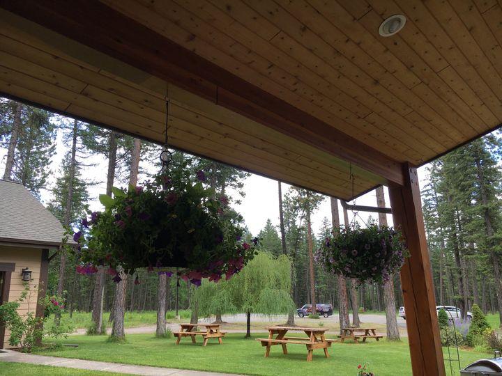 The wooden pavilion