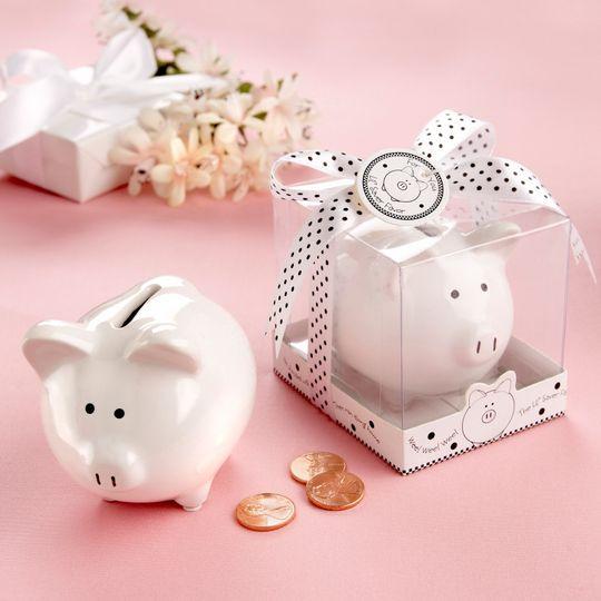 Wedding favors piggy bank