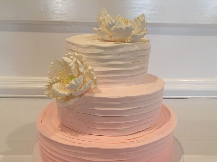 Tmx 1494376531734 Ribboned Butter Cream. Ombre. Largepeonies Bronx wedding cake