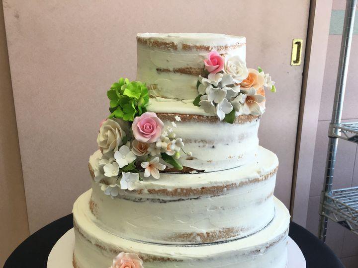 Tmx 1494376532025 Nude Naked Cake With Fondant Flowers Bronx wedding cake