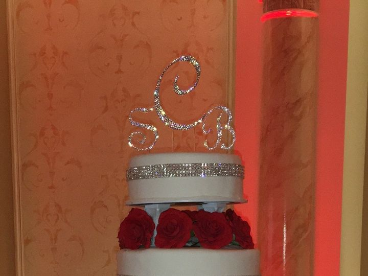Tmx 1494376579709 Rolled Fondant. All Separated With Swarovski Cryst Bronx wedding cake