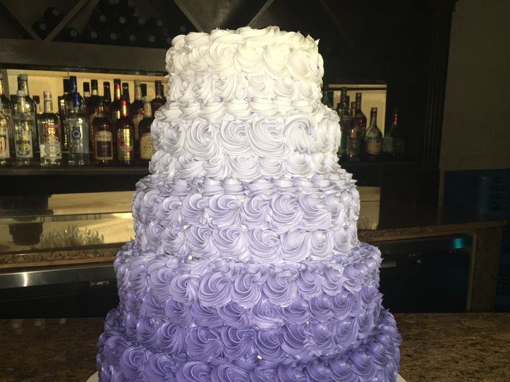 Tmx 1494376626235 Rosettes In Ombre Bronx wedding cake