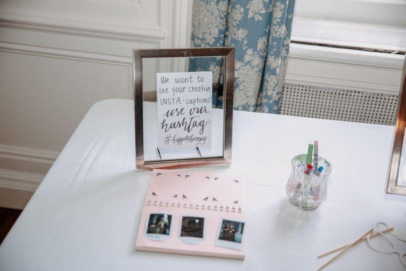 Photobooth table
