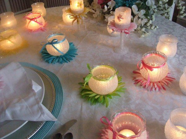 Another photo of the wedding reception table which illustrates just how beautiful Sugar Lites are...