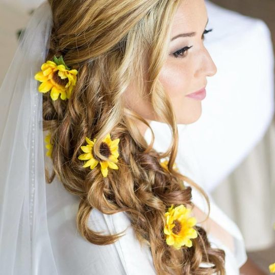 Sunflowers in hair