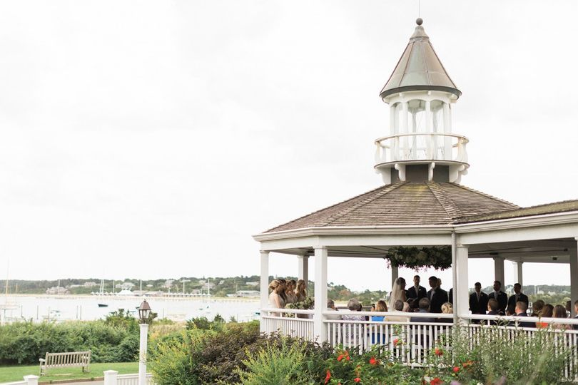Ceremony on the gazebo