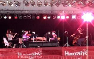Four Seasons String Quartet performing LIVE at the 2002 Red River Revel annual arts festival in...